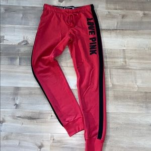Red Pink joggers